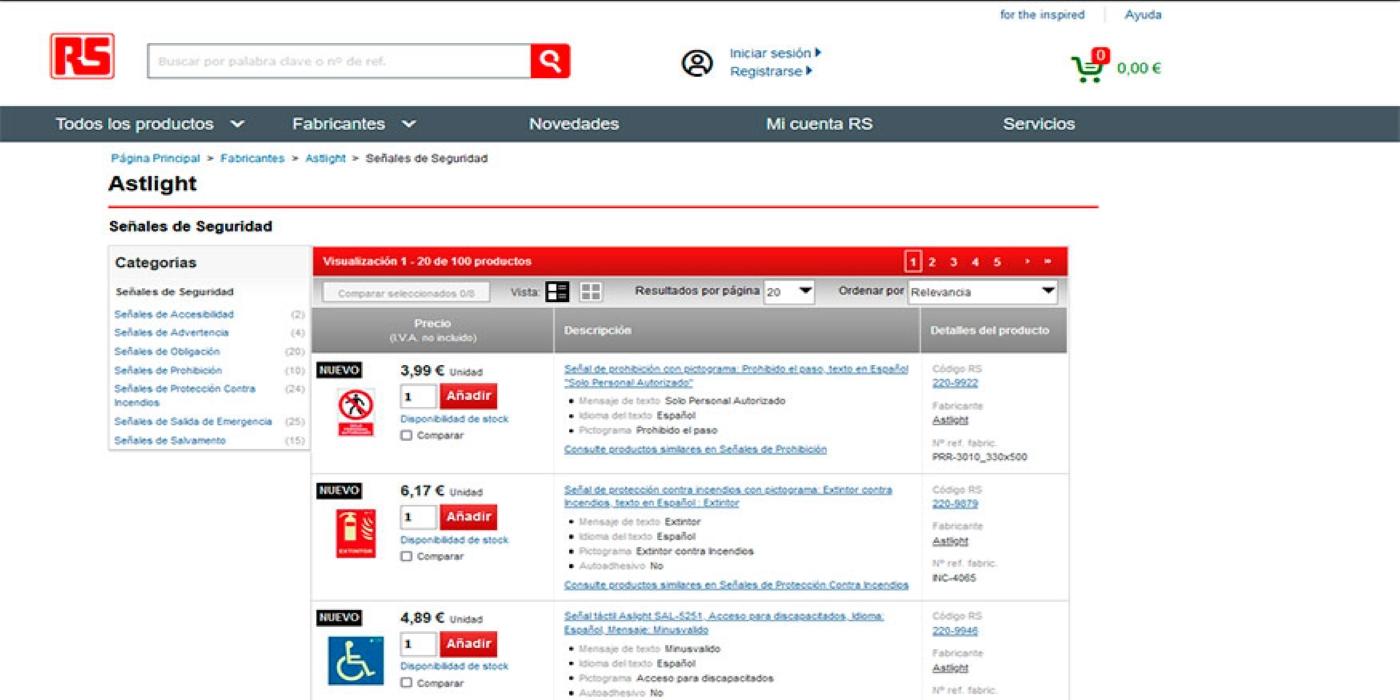 RS Components fortalece su oferta en productos y accesorios de seguridad con S21 Señalización