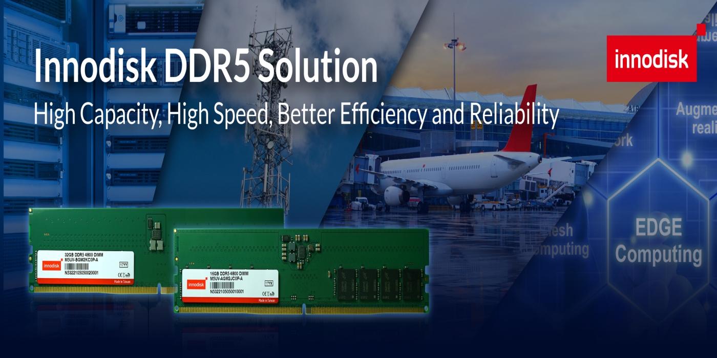 Innodisk presenta módulos DRAM DDR5 de calidad industrial