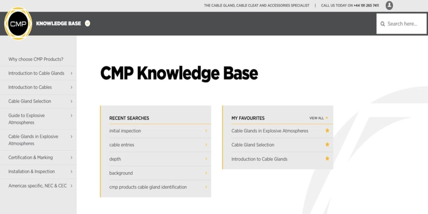 CMP Products lanza una 'Base de conocimientos' técnica