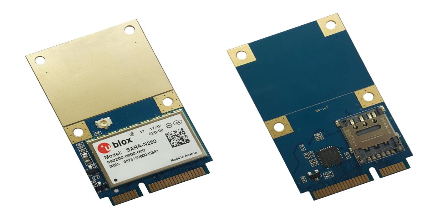 Tarjetas Mini PCIe para NB-IoT con interfaz USB 2.0