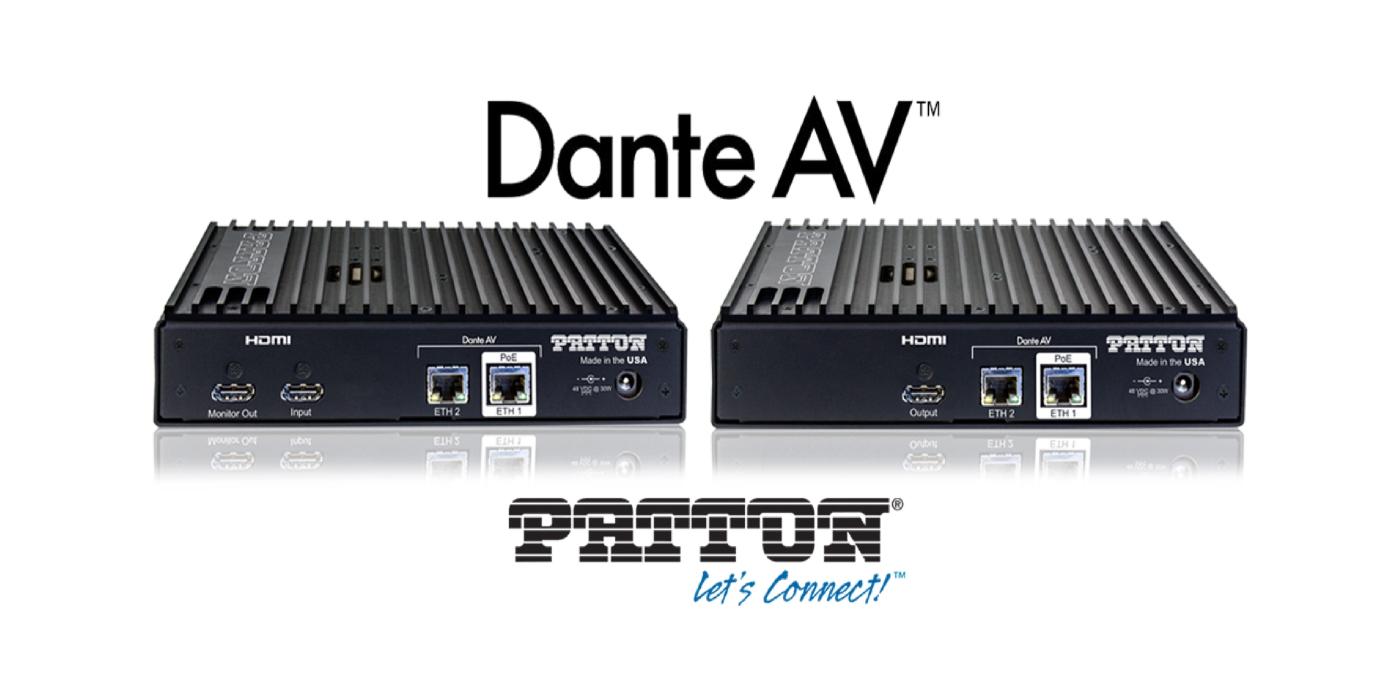 Patton presenta los primeros codificadores y decodificadores con tecnología Dante AV