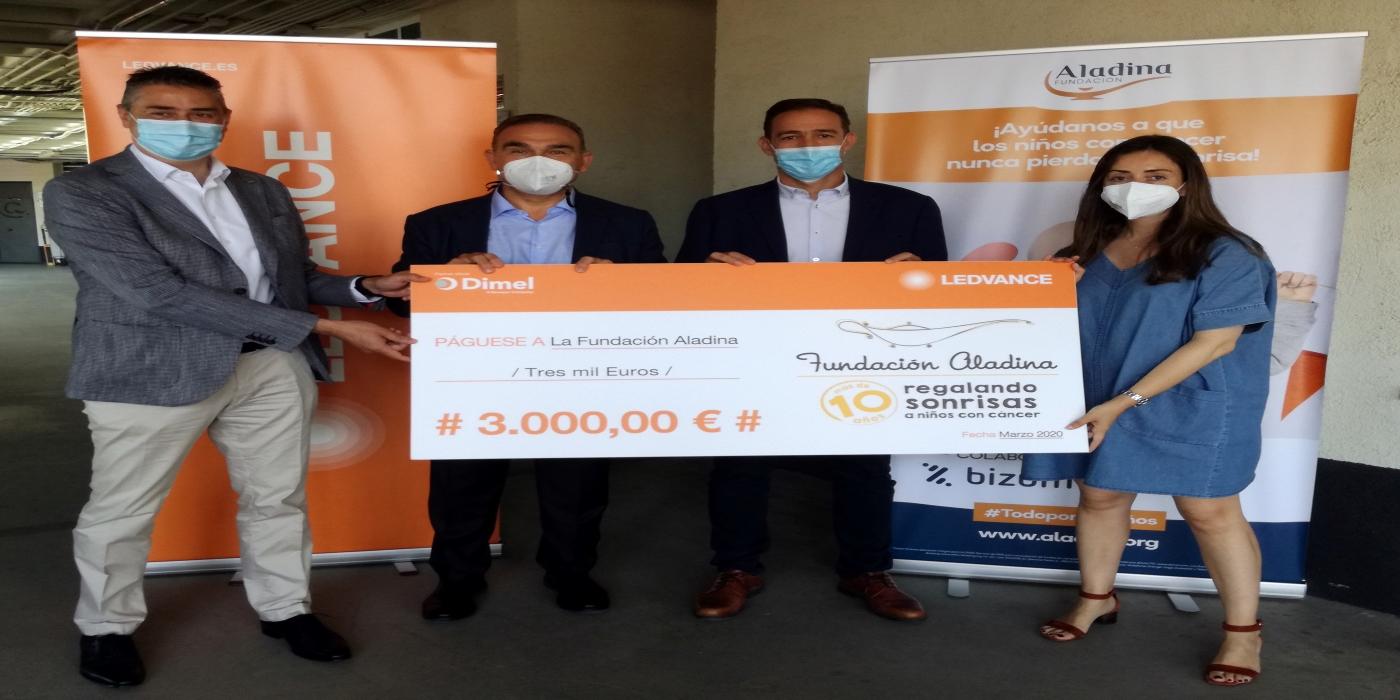 LEDVANCE y SONEPAR IBÉRICA donan a la Fundación Aladina 3.000 euros para apoyar la lucha contra el cáncer infantil