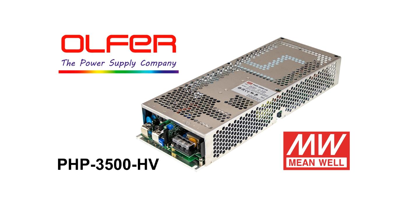 Series PHP-3500-HV: Fuente de alimentación digital con tensión de salida elevada