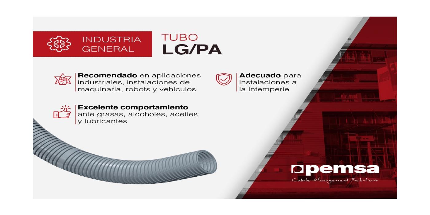 PEMSA presenta su Tubo LG-PA, ideal para situaciones a la intemperie que demanden gran flexibilidad