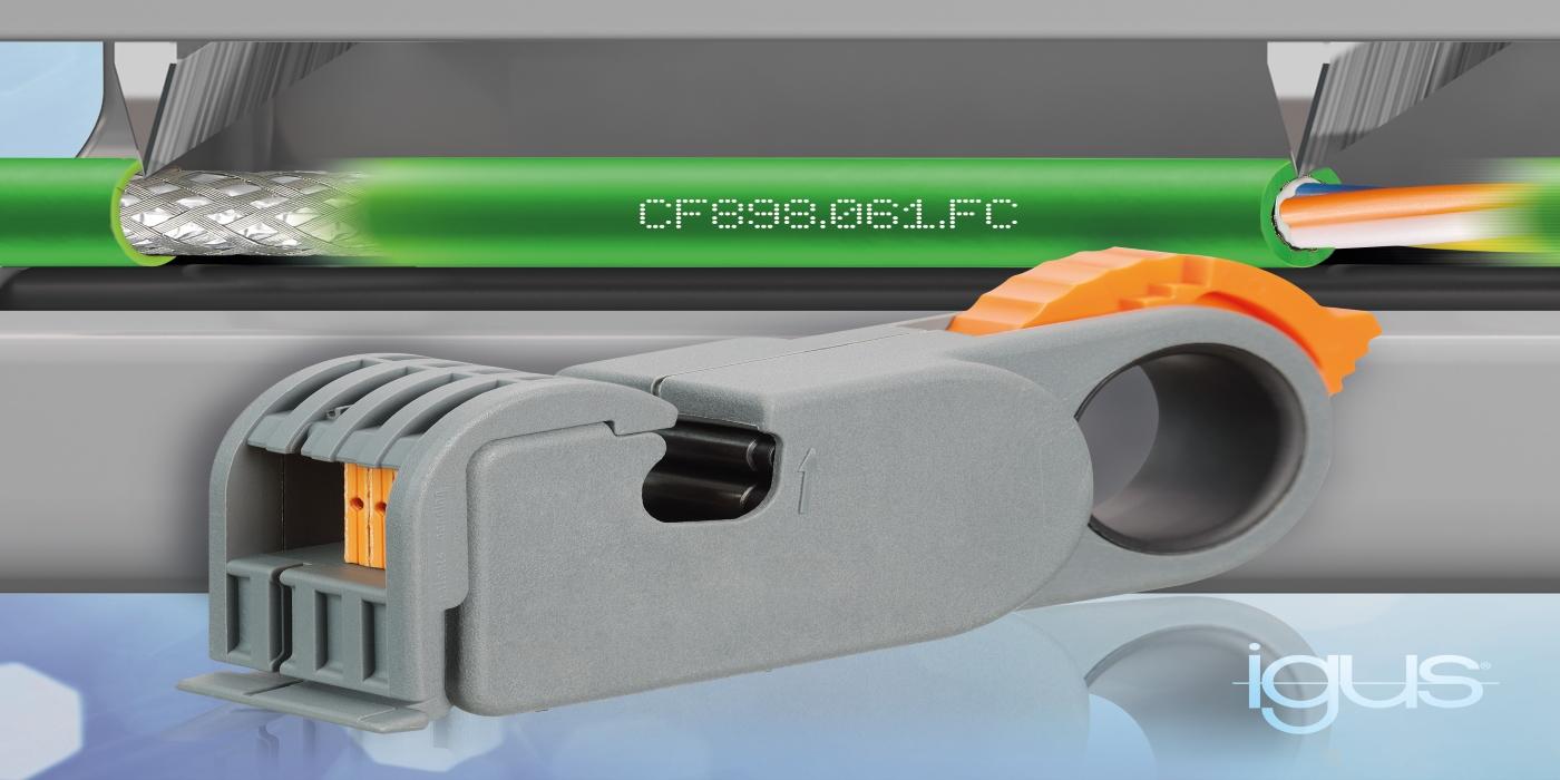 El cable FastConnect de igus reduce el tiempo de confección en un 46%