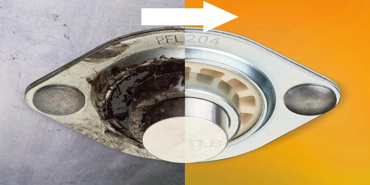 Cojinetes esféricos de plástico igubal: libres de lubricación y mantenimiento a pesar de contener metal