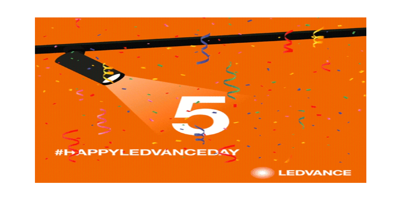LEDVANCE cumple cinco años y lo celebra con el éxito de sus dos eventos virtuales en directo sobre iluminación