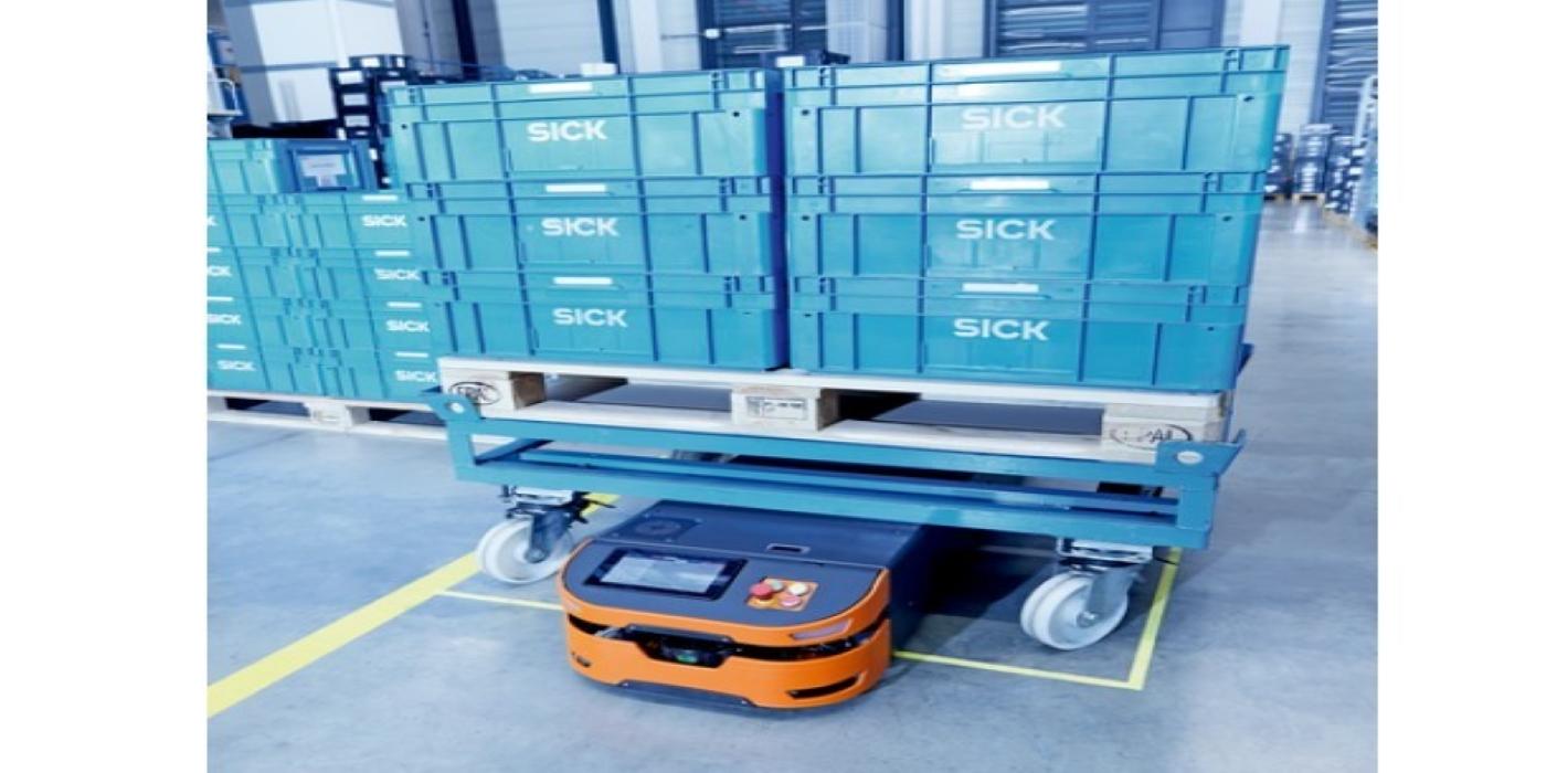 SICK presenta Safe AGV Easy, la solución de seguridad para vehículos guiados automatizados