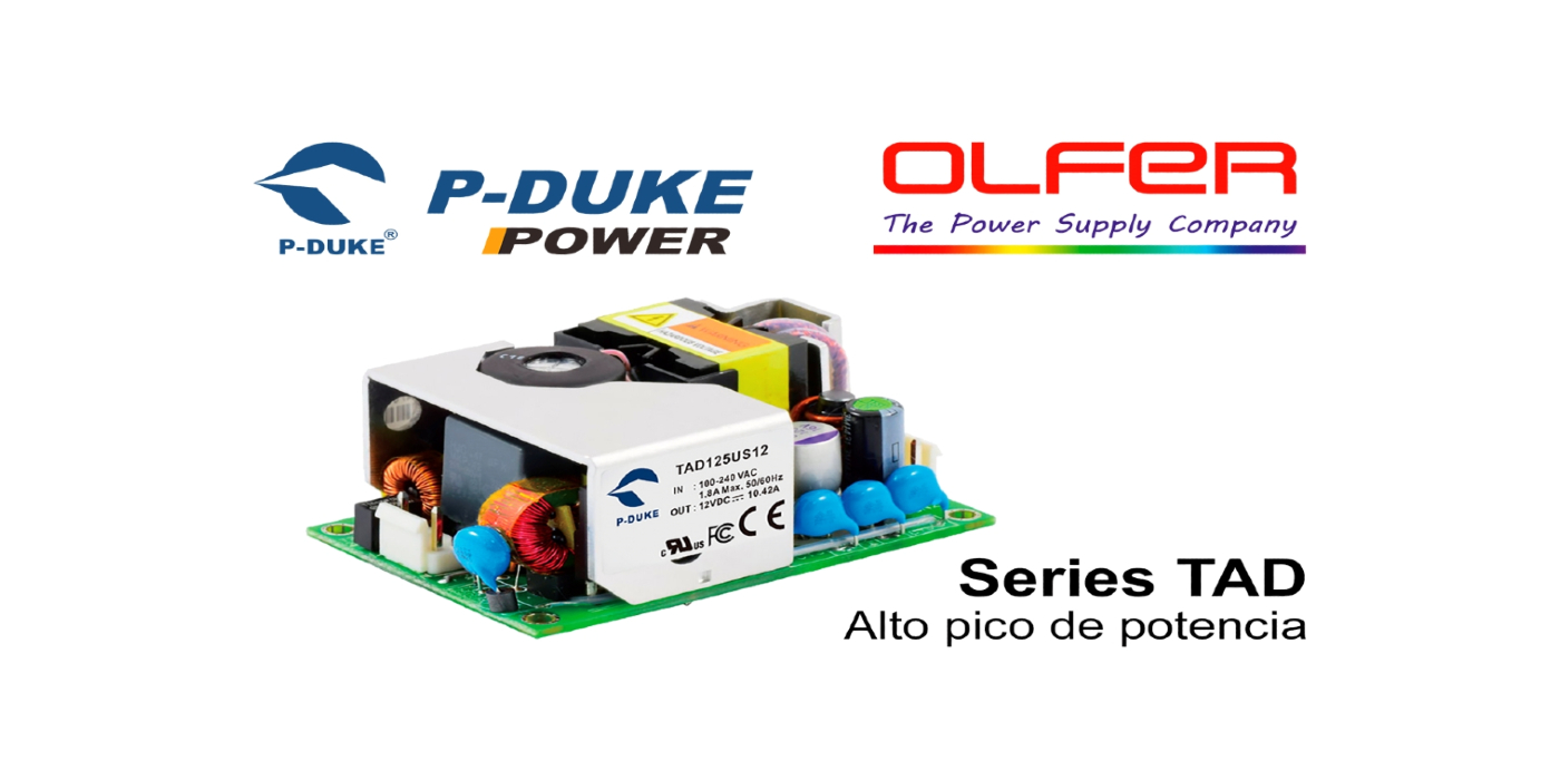 Series TAD30-P, TAD65-P y TAD125: Alto pico de potencia