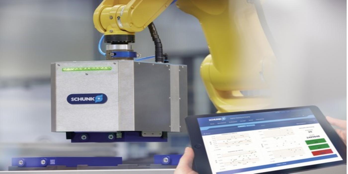 SCHUNK presenta un nuevo sistema de agarre inteligente para el control integrado de células de baterías