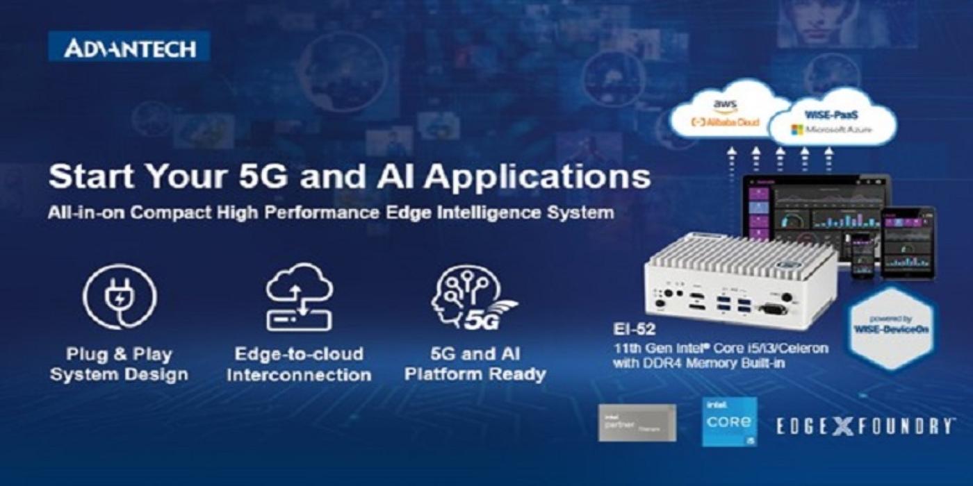 Potencie sus aplicaciones edge con IA y 5G mediante el sistema de inteligencia edge de 11ª generación impulsado por Intel® de Advantech