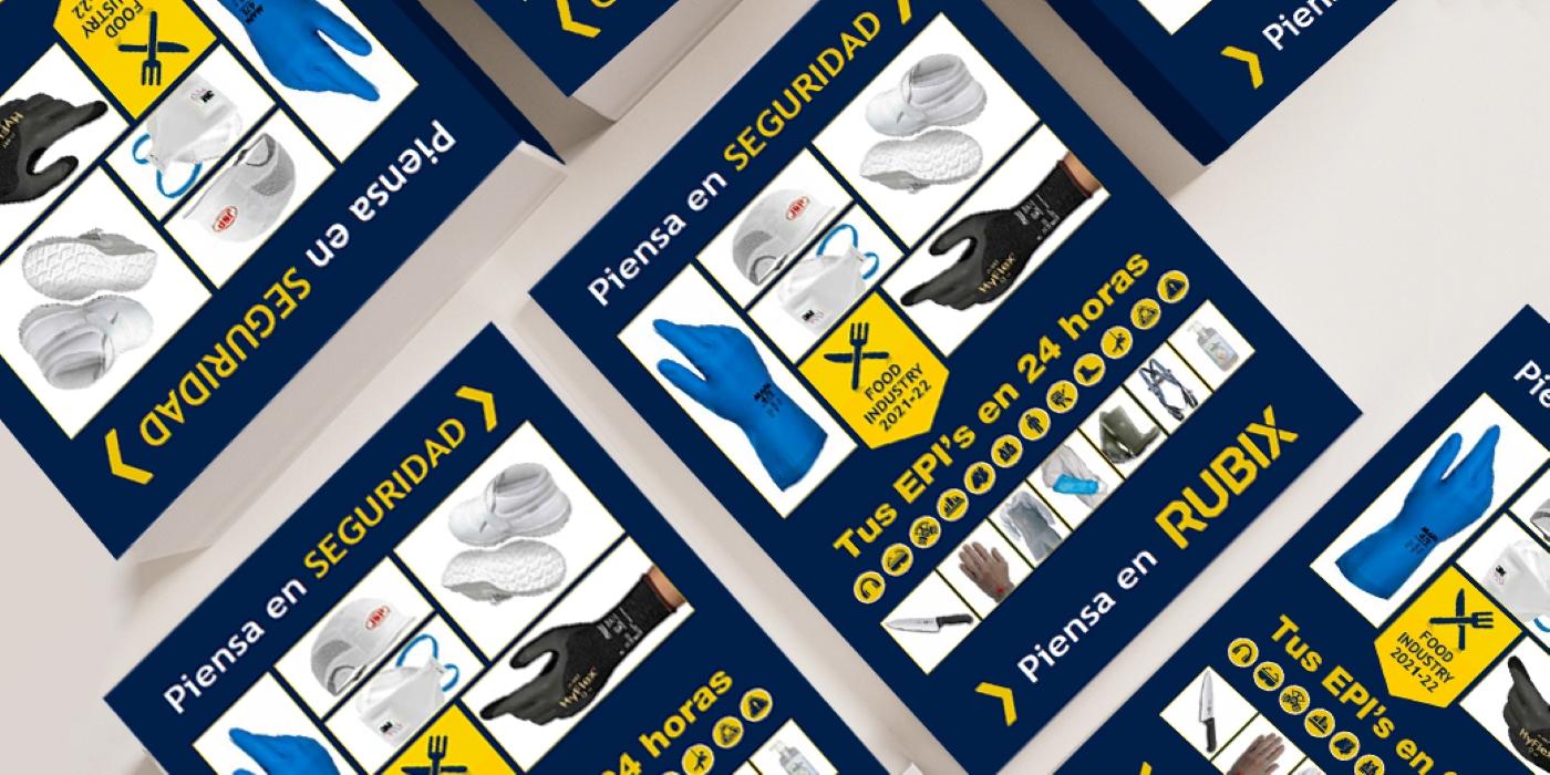 RUBIX lanza un catálogo de EPI especializado en la industria alimentaria